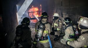 ACC Fire Academy students practice extinguishing fires