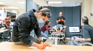 ACC students practice intubations skills