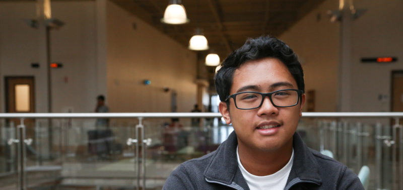ACC student poses for a portrait