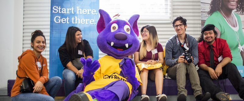 The ACC River Bat with students