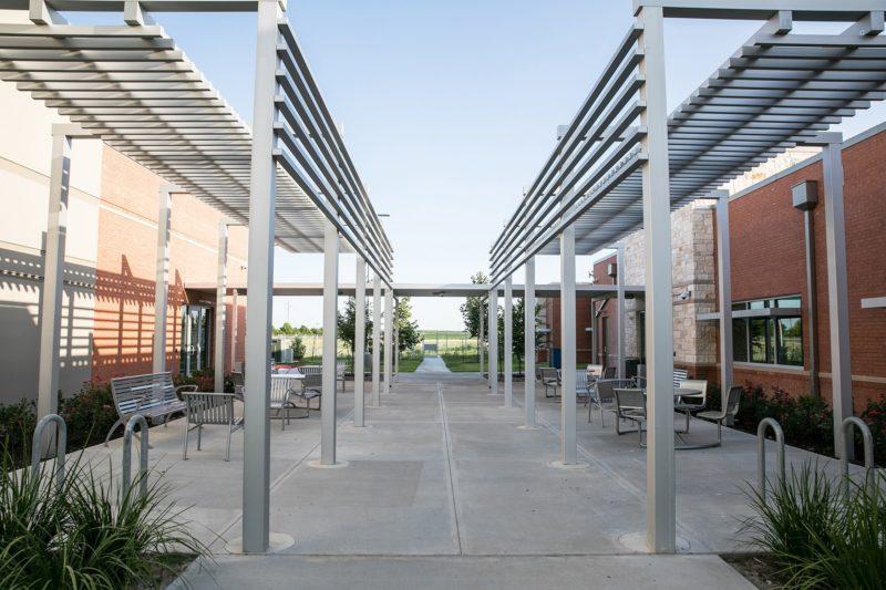 Hays campus courtyard