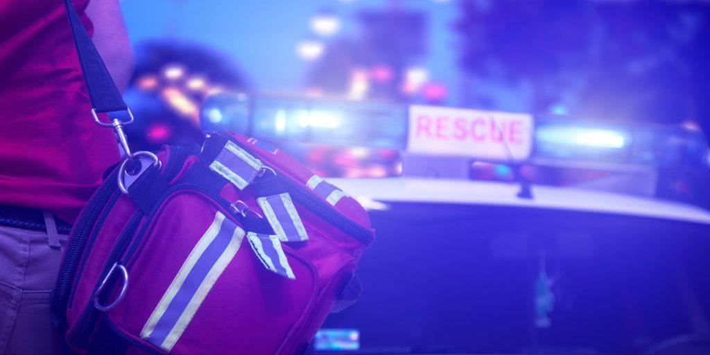A scene of an emergency